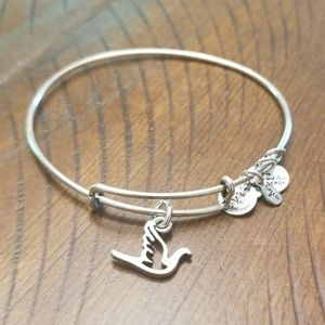 Alex and Ani bracelet- dove